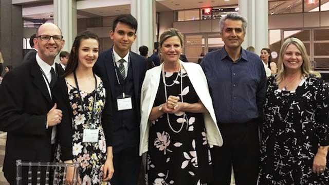 Austin National Ambassadors with Judge Julie Kocurek at the National Recognition Week in DC July 2018.