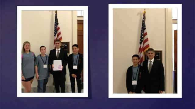 Visiting w/U.S. Representative Filemon Vela