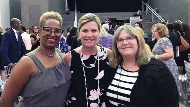 Mary, Judge Julie Kocurek and Cindy at the National Recognition Week in DC July 2018.